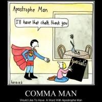 Comma Man to the Rescue!